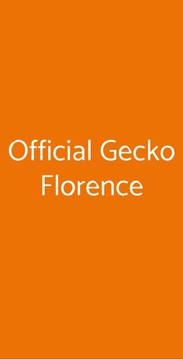 Official Gecko Florence, Firenze
