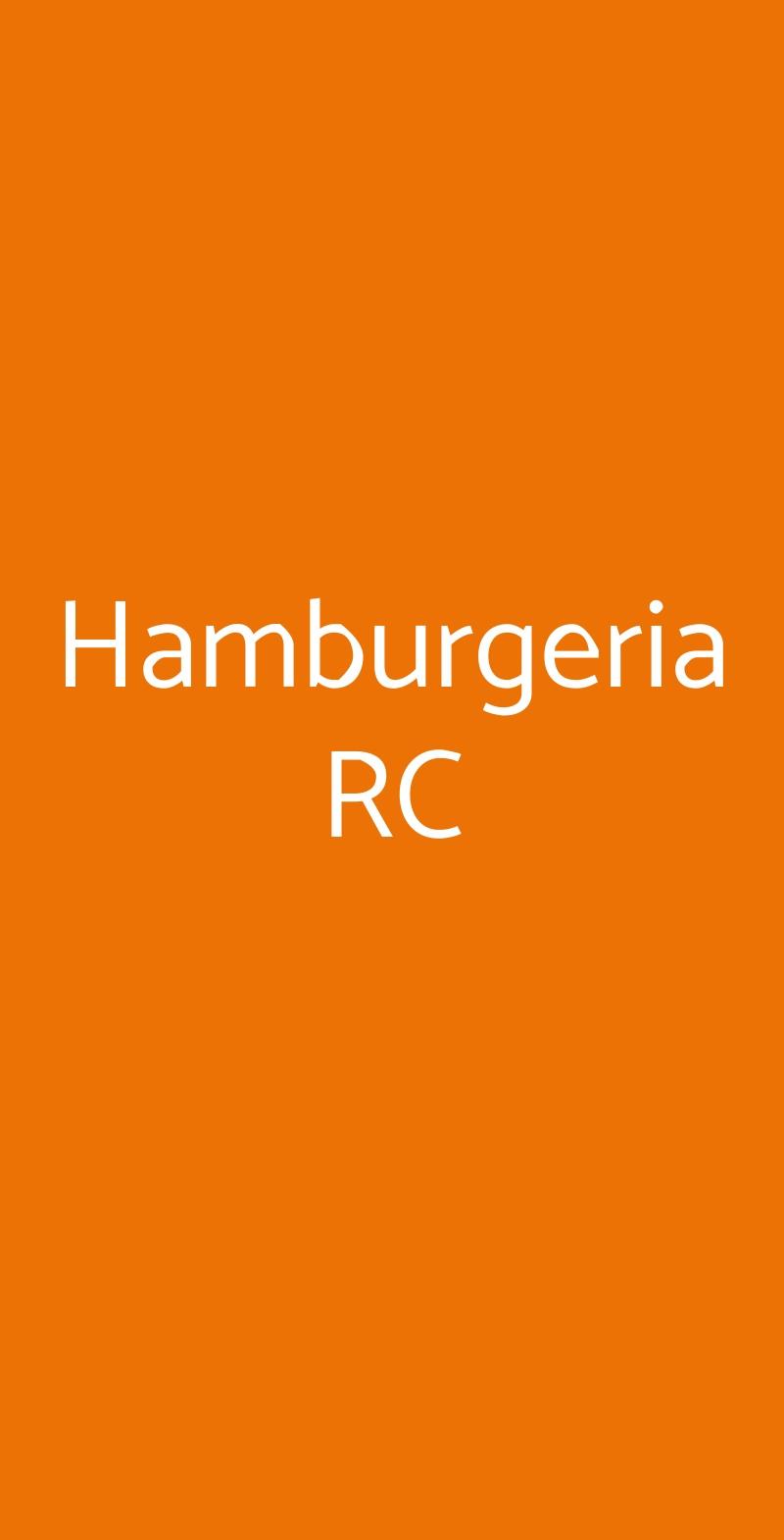 Hamburgeria RC Reggio Calabria menù 1 pagina