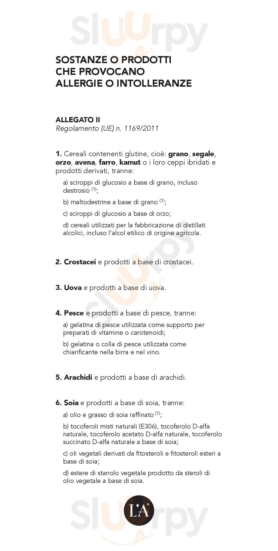 L'A Gourmet L'Accademia Reggio Calabria menù 1 pagina