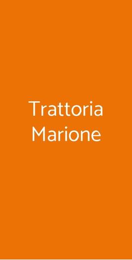 Trattoria Marione, Firenze