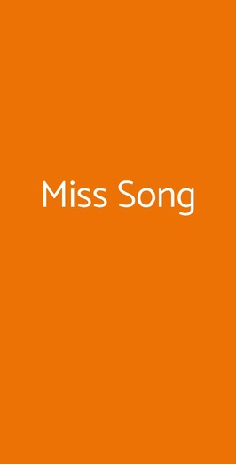 Miss Song, Firenze