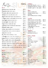 Menu Mister Pizza - Via Pietrapiana