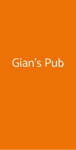 Gian's Pub, Cinquefrondi