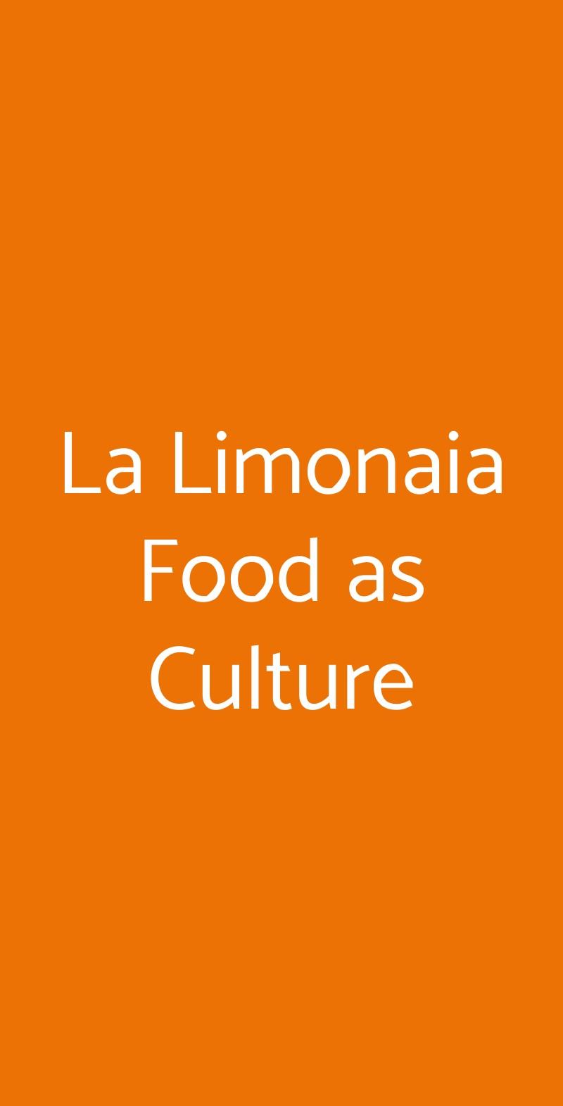 La Limonaia  Torino menù 1 pagina