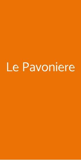 Menu Le Pavoniere