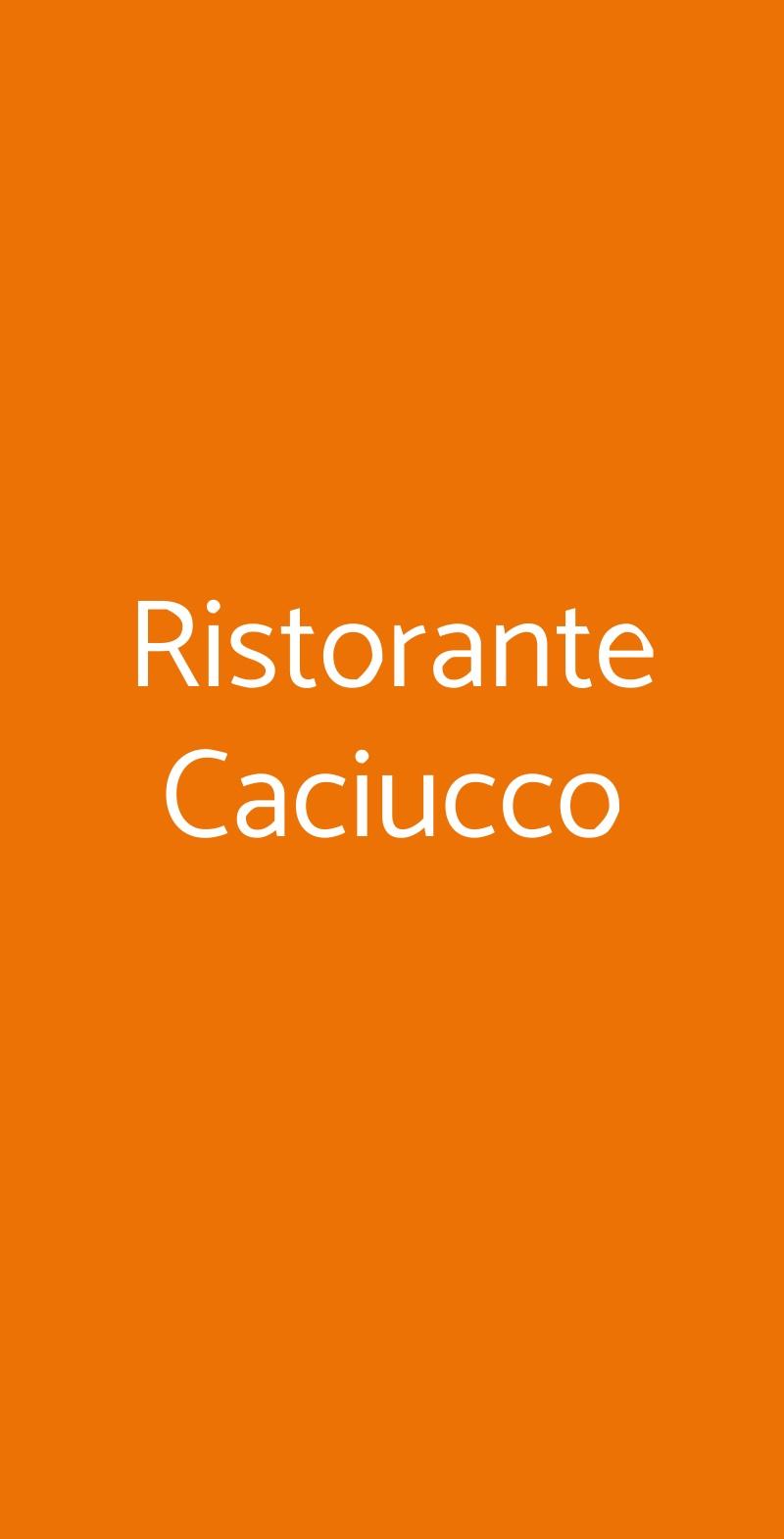 Ristorante Caciucco Torino menù 1 pagina
