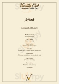 Menu Vanilla Club
