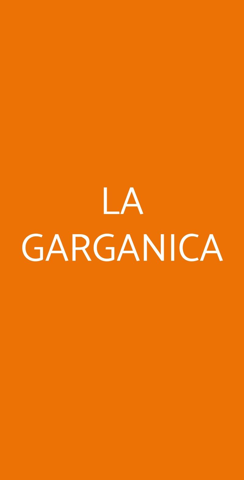LA GARGANICA Bologna menù 1 pagina