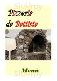 Menu Pizzeria da Battista