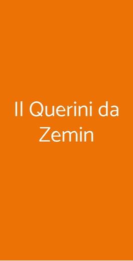 Il Querini Da Zemin, Vicenza
