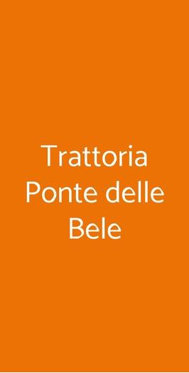Trattoria Ponte Delle Bele, Vicenza