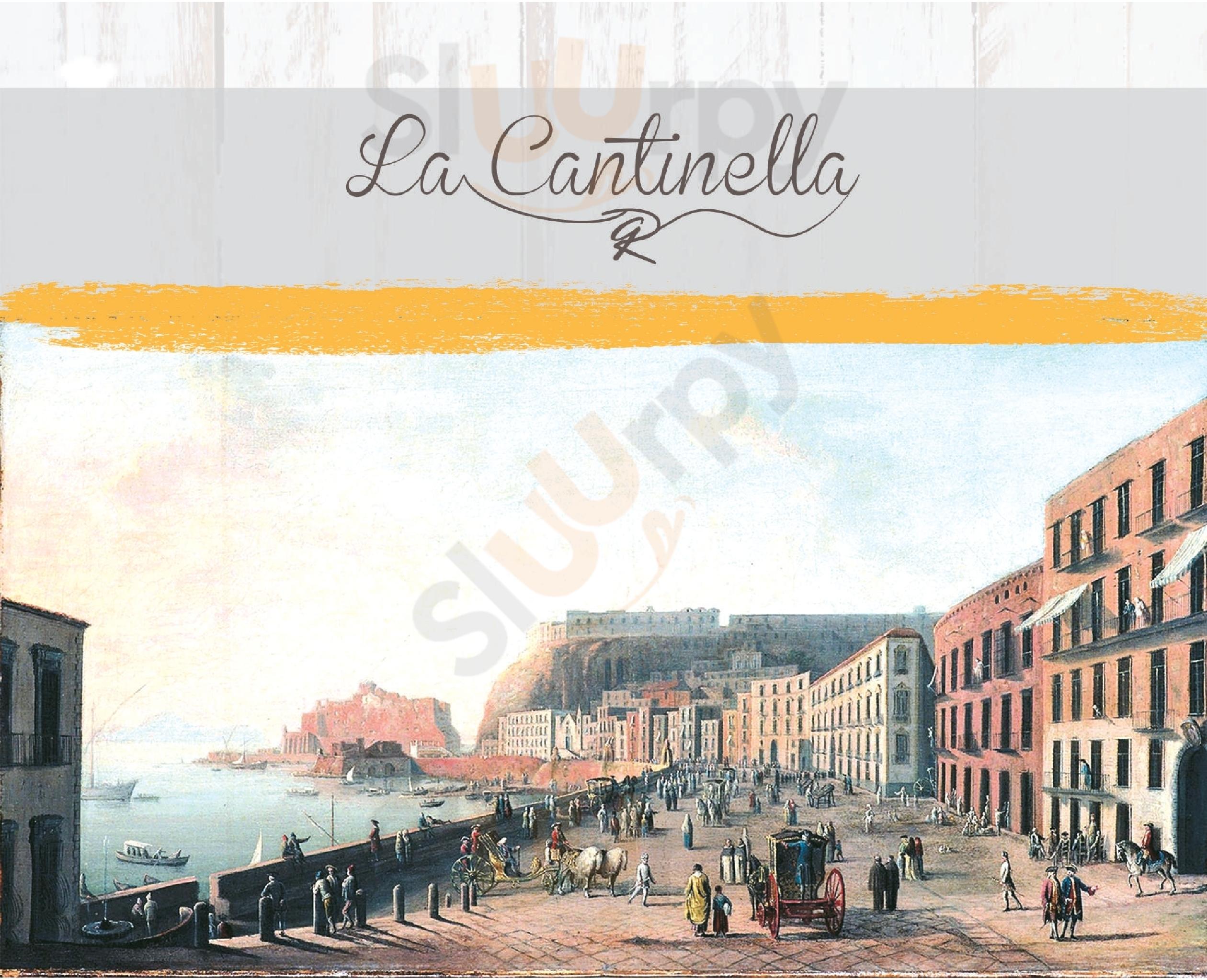 La Cantinella Napoli menù 1 pagina
