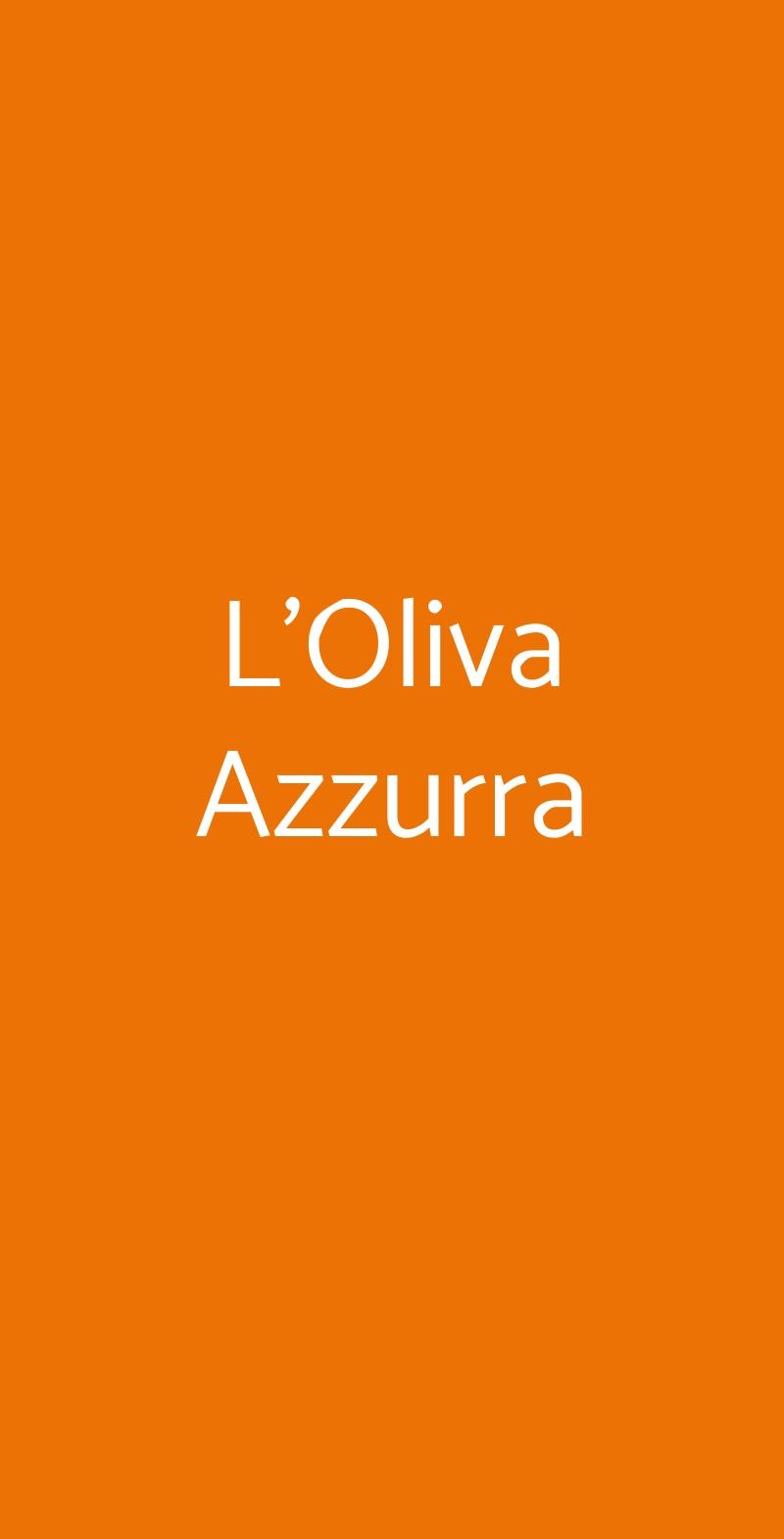 L'Oliva Azzurra Valeriano Lunense menù 1 pagina