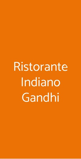 Ristorante Indiano Gandhi, Padova