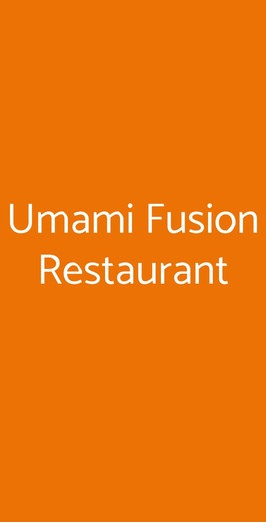 Umami Fusion Restaurant, Padova