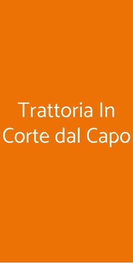 Trattoria In Corte Dal Capo, Conselve