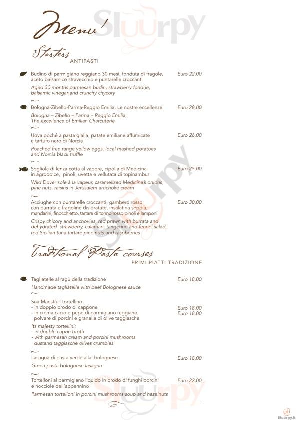 I Carracci - Grand Hotel Majestic già Baglioni Bologna menù 1 pagina