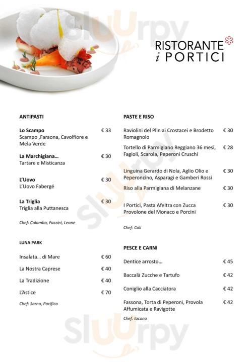Menu I Portici