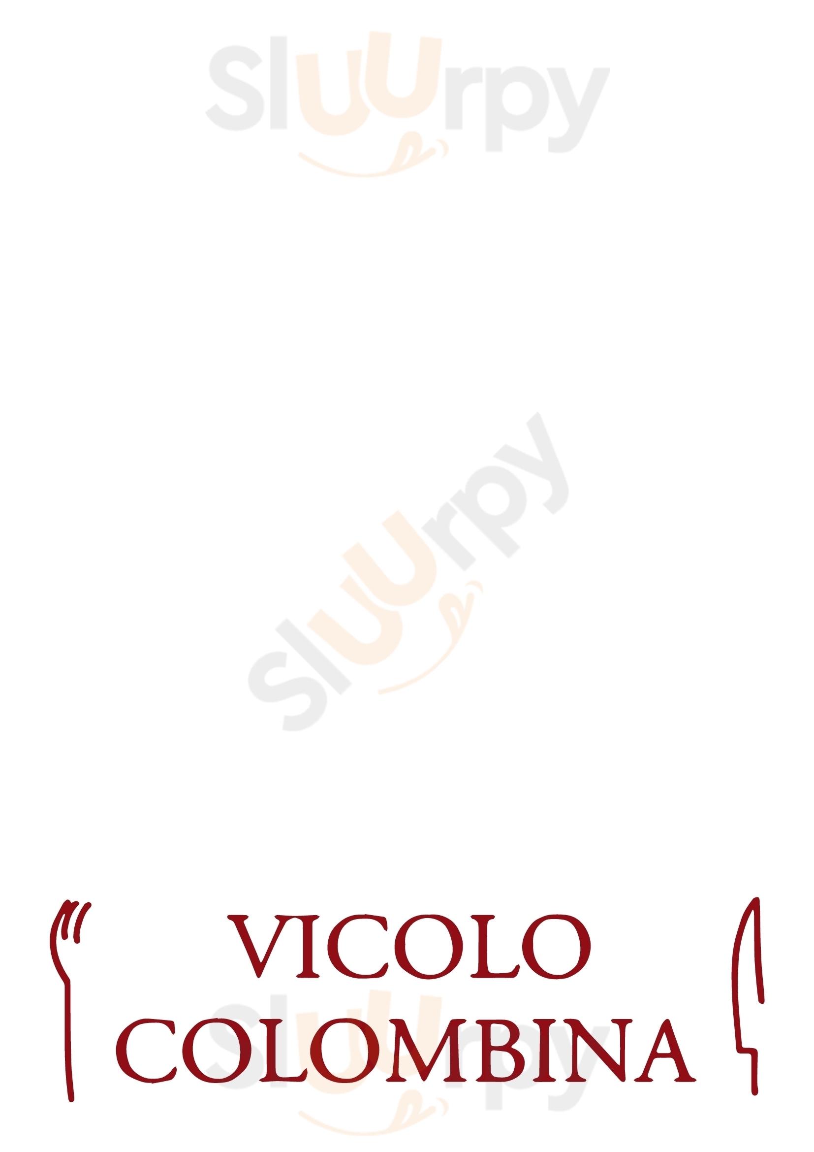 Vicolo Colombina Bologna menù 1 pagina