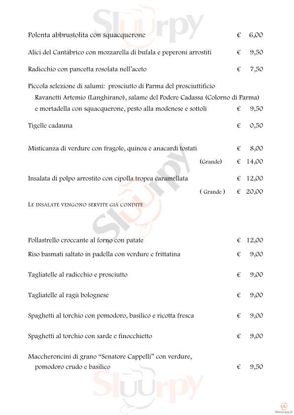 Trattoria Monte Donato Bologna menù 1 pagina