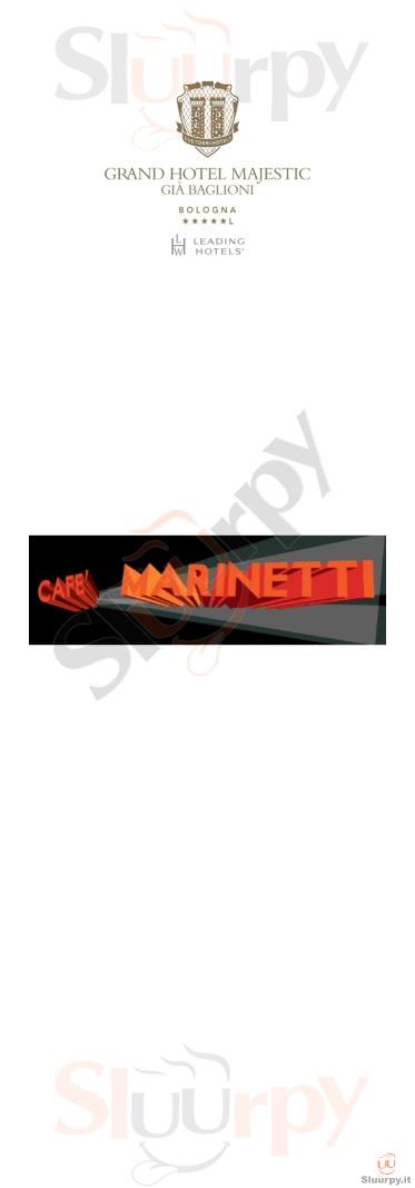 Cafè Marinetti - Grand Hotel Majestic già Baglioni Copia Bologna menù 1 pagina