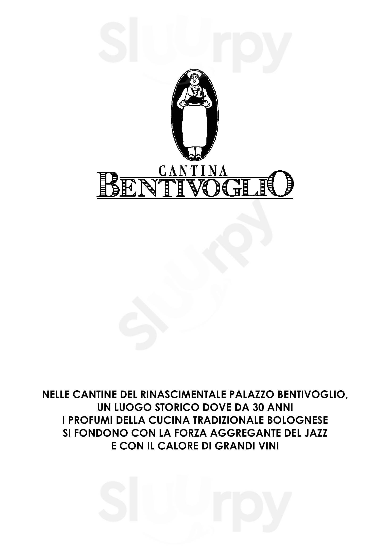 Cantina Bentivoglio Bologna menù 1 pagina