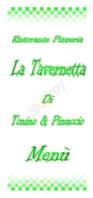 Menu Pizzeria La Tavernetta