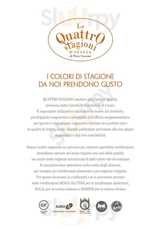 Menu Le Quattro Stagioni d'Italia