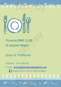 Menu Pizzeria Erre Club Di Antonio Ragno