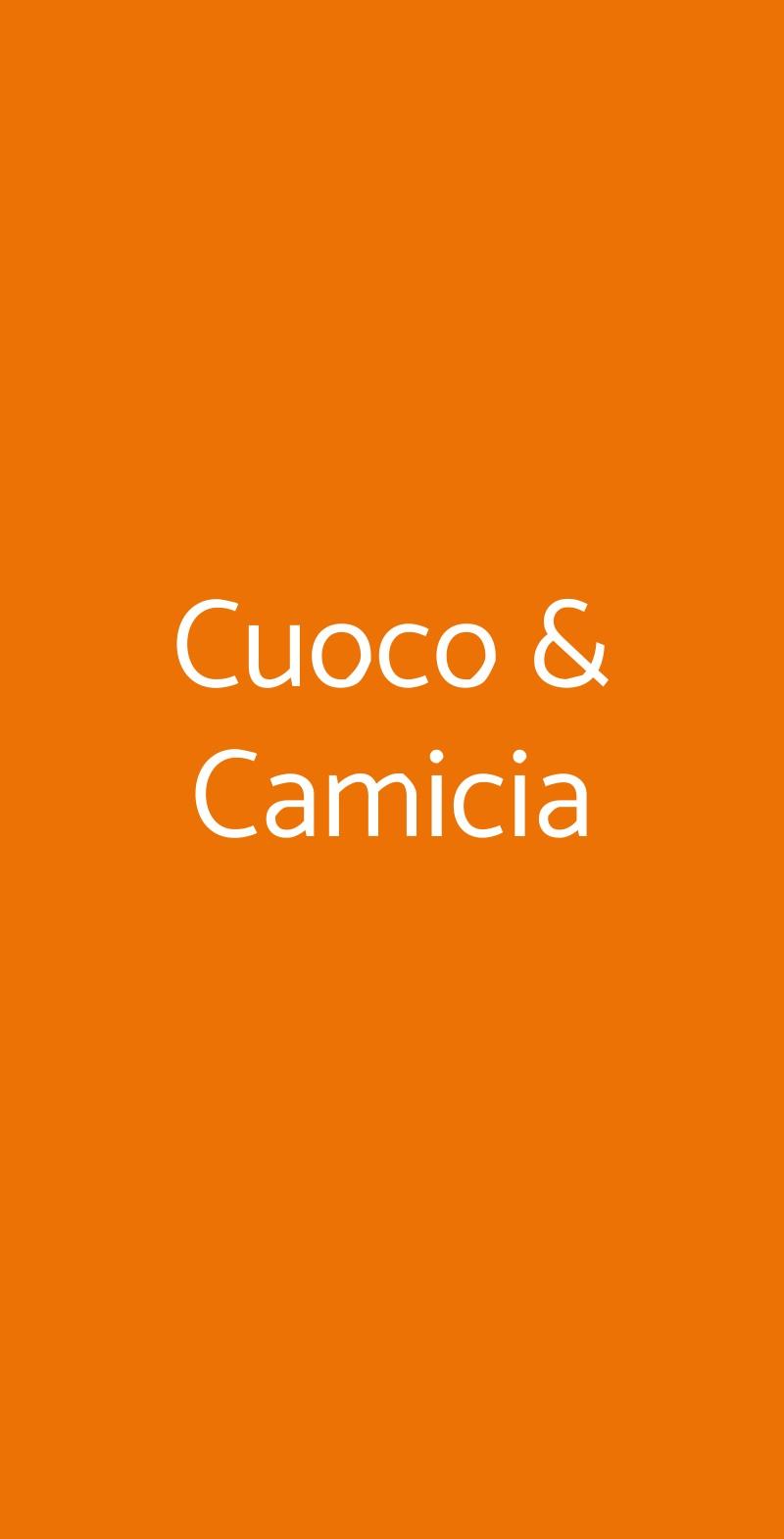 Cuoco & Camicia Roma menù 1 pagina