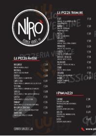 Menu Pizzeria Nirò