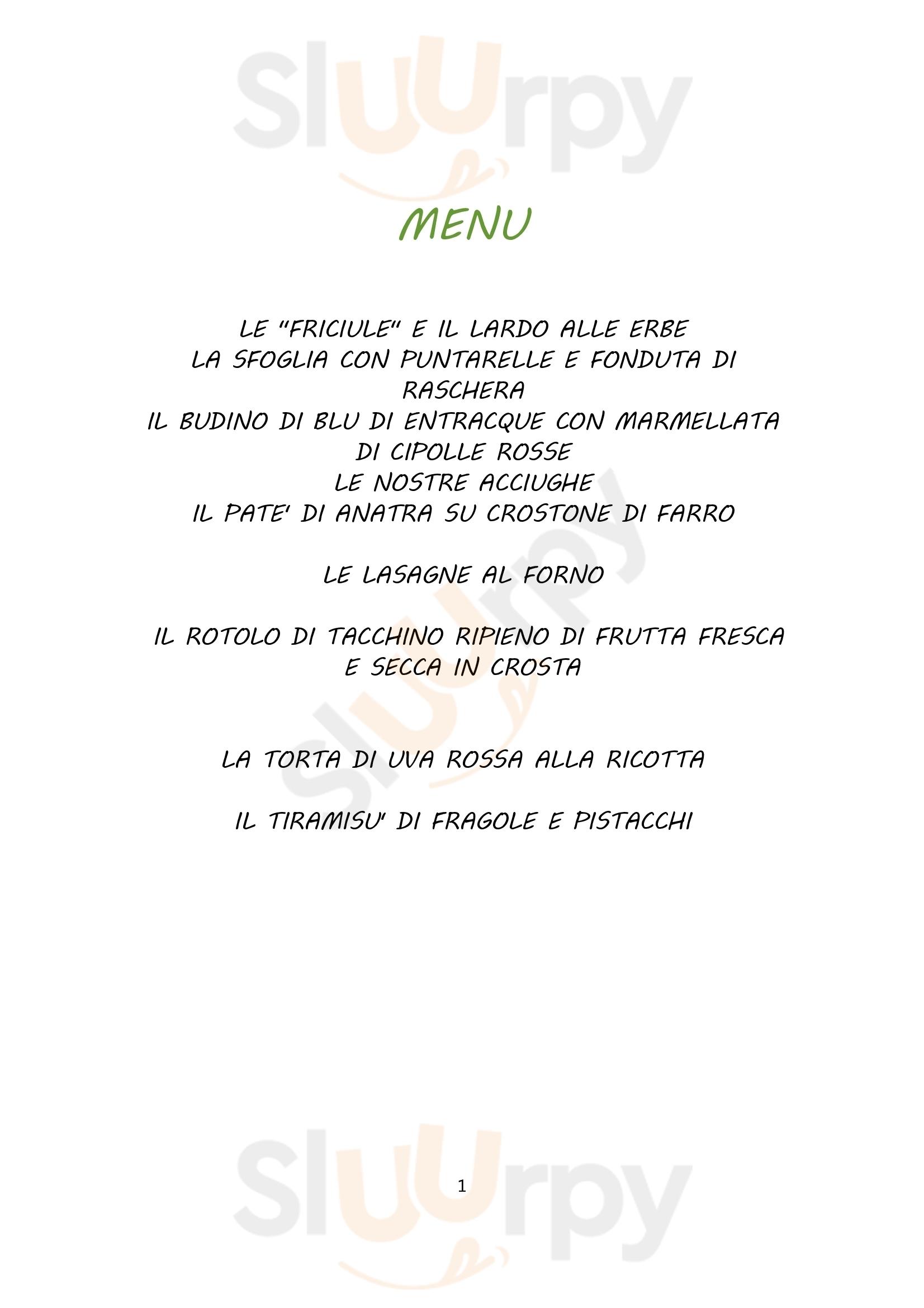 Mulino Delle Ortensie Gaiola menù 1 pagina