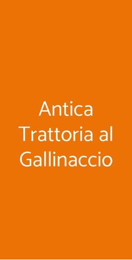 Antica Trattoria Al Gallinaccio, Roma