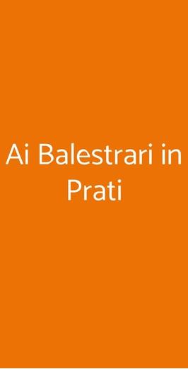Ai Balestrari In Prati, Roma