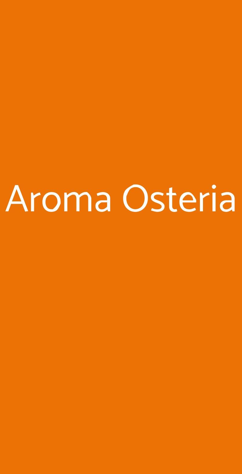 Aroma Osteria Roma menù 1 pagina