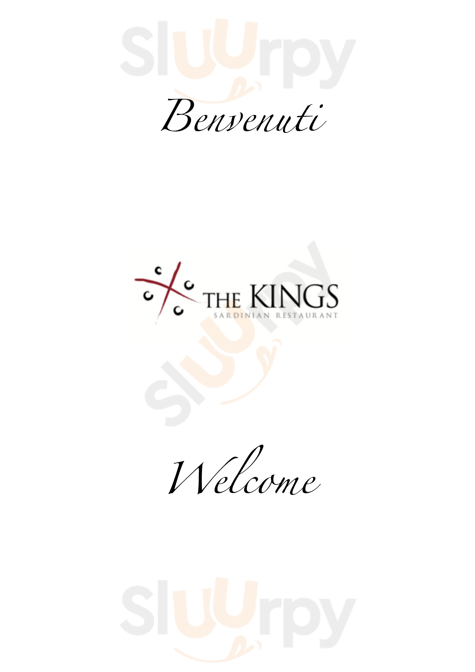 Ristorante Kings Alghero menù 1 pagina