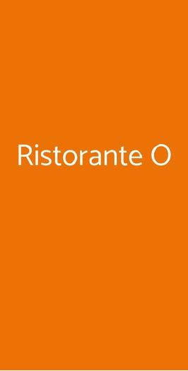 Ristorante O, Alghero