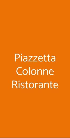 Piazzetta Colonne Ristorante, Brindisi