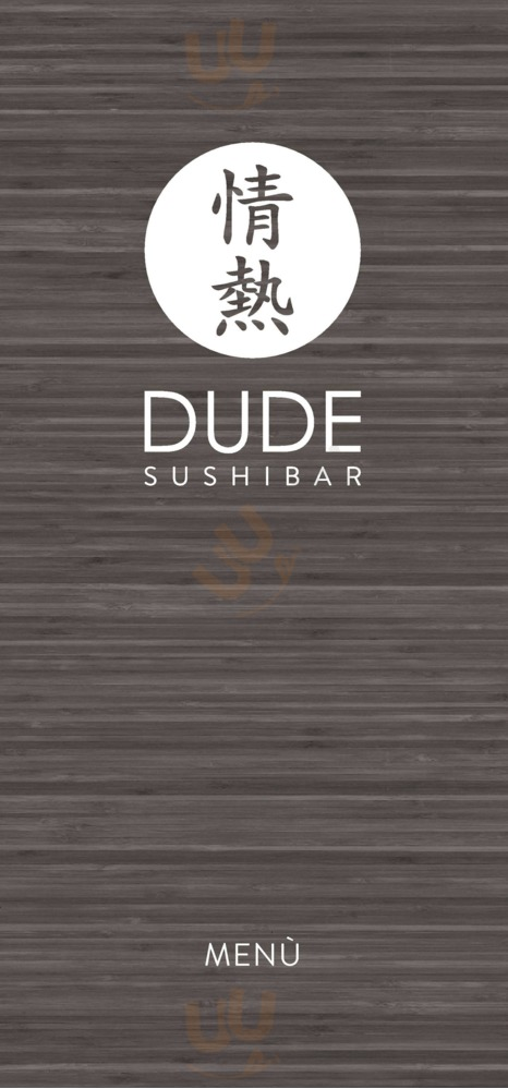 Menu Dude Sushi Bar