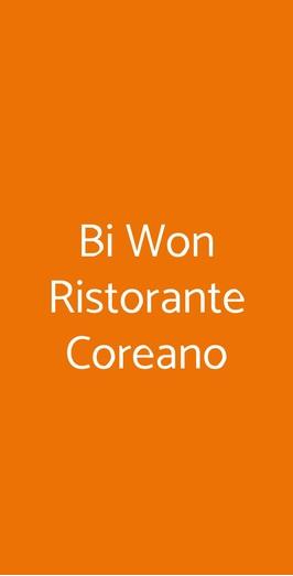 Bi Won Ristorante Coreano, Roma