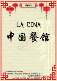 Menu La Cina