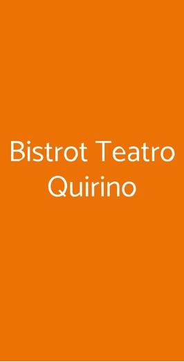 Bistrot Teatro Quirino, Roma