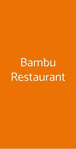 Bambù Restaurant, Roma