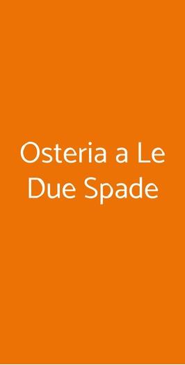 Osteria A Le Due Spade, Trento
