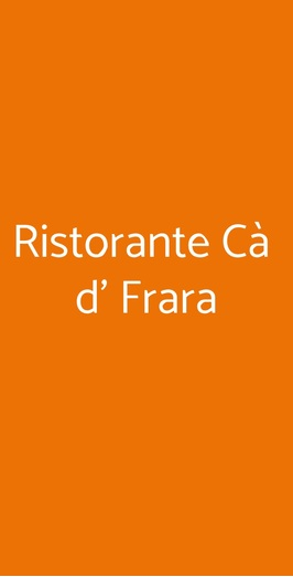 Ristorante Cà D' Frara, Ferrara