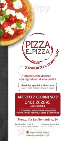 Menu Pizza E Pizza