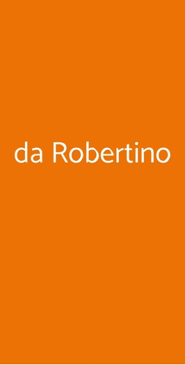 Da Robertino, Roma