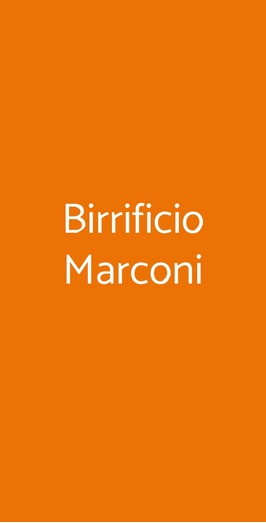 Birrificio Marconi, Roma