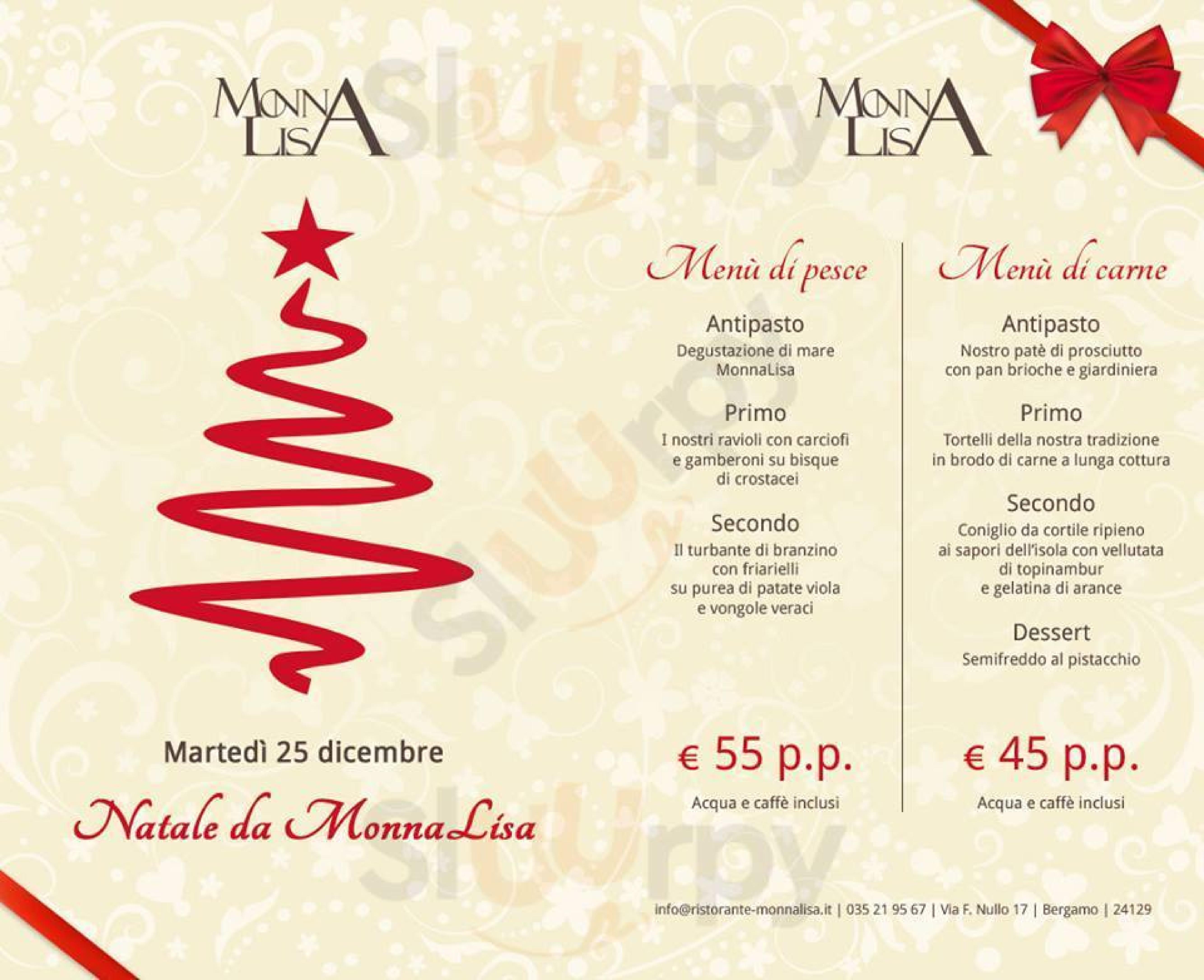 Menu Di Natale Bergamo.Menu Monna Lisa Bergamo Specialita E Piatti Del Menu Natale 2018