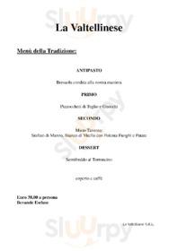 Menu La Taverna Valtellinese